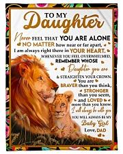 STRAIGHTEN YOUR CROWN - GREAT GIFT FOR DAUGHTER Fleece Blanket tile