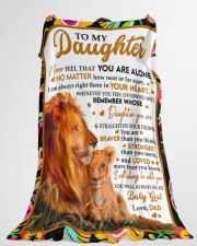 """STRAIGHTEN YOUR CROWN - GREAT GIFT FOR DAUGHTER Large Fleece Blanket - 60"""" x 80"""" aos-coral-fleece-blanket-60x80-lifestyle-front-10"""