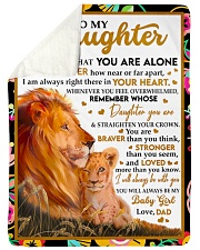 """STRAIGHTEN YOUR CROWN - GREAT GIFT FOR DAUGHTER Large Sherpa Fleece Blanket - 60"""" x 80"""" thumbnail"""