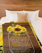 "BIG HUG - AMAZING GIFT FOR DAUGHTER Large Fleece Blanket - 60"" x 80"" aos-coral-fleece-blanket-60x80-lifestyle-front-02"