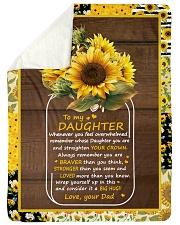 "BIG HUG - AMAZING GIFT FOR DAUGHTER Large Sherpa Fleece Blanket - 60"" x 80"" thumbnail"