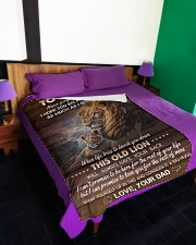 """I BELIEVE IN YOU - TO SON FROM DAD Large Fleece Blanket - 60"""" x 80"""" aos-coral-fleece-blanket-60x80-lifestyle-front-01"""