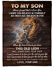 """I BELIEVE IN YOU - TO SON FROM DAD Large Fleece Blanket - 60"""" x 80"""" front"""