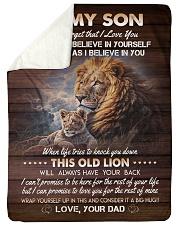 """I BELIEVE IN YOU - TO SON FROM DAD Large Sherpa Fleece Blanket - 60"""" x 80"""" thumbnail"""