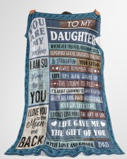 "ENJOY THE RIDE - BEAUTIFUL GIFT TO DAUGHTER Large Fleece Blanket - 60"" x 80"" aos-coral-fleece-blanket-60x80-lifestyle-front-10"