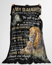 """JUST DO YOUR BEST - SPECIAL GIFT FOR DAUGHTER Large Fleece Blanket - 60"""" x 80"""" aos-coral-fleece-blanket-60x80-lifestyle-front-10"""