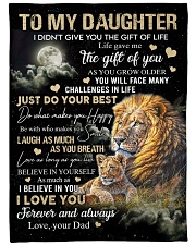 """JUST DO YOUR BEST - SPECIAL GIFT FOR DAUGHTER Large Fleece Blanket - 60"""" x 80"""" front"""