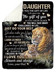 """JUST DO YOUR BEST - SPECIAL GIFT FOR DAUGHTER Large Sherpa Fleece Blanket - 60"""" x 80"""" thumbnail"""
