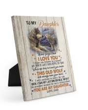 NEVER FORGET THAT I LOVE YOU Easel-Back Gallery Wrapped Canvas tile