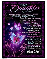 """I THINK ABOUT YOU - TO DAUGHTER FROM DAD Large Fleece Blanket - 60"""" x 80"""" front"""
