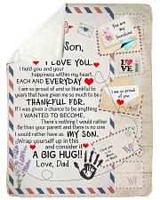 NEVER FORGET THAT I LOVE YOU Sherpa Fleece Blanket tile