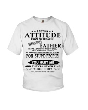 HE HAS A BACKBONE MADE OF STEEL Youth T-Shirt tile