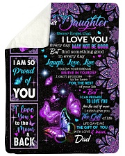 """NEVER FORGET THAT I LOVE YOU Large Sherpa Fleece Blanket - 60"""" x 80"""" thumbnail"""
