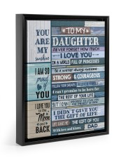 YOU ARE MY SUNSHINE - TO DAUGHTER FROM DAD 11x14 Black Floating Framed Canvas Prints thumbnail