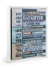 YOU ARE MY SUNSHINE - TO DAUGHTER FROM DAD 11x14 White Floating Framed Canvas Prints thumbnail
