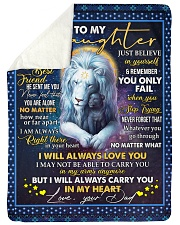"""I WILL ALWAYS LOVE YOU - GREAT GIFT FOR DAUGHTER  Large Sherpa Fleece Blanket - 60"""" x 80"""" thumbnail"""