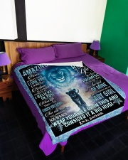 "I HOPE YOU BELIEVE IN YOURSELF Large Fleece Blanket - 60"" x 80"" aos-coral-fleece-blanket-60x80-lifestyle-front-01"