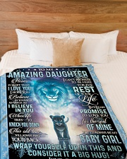 "I HOPE YOU BELIEVE IN YOURSELF Large Fleece Blanket - 60"" x 80"" aos-coral-fleece-blanket-60x80-lifestyle-front-02"