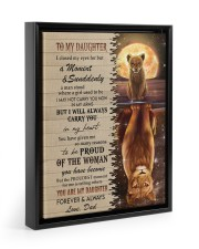 I WILL ALWAYS CARRY YOU - TO DAUGHTER FROM DAD Floating Framed Canvas Prints Black tile