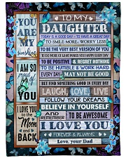 """BELIEVE IN YOURSELF - GREAT GIFT FOR DAUGHTER  Large Fleece Blanket - 60"""" x 80"""" front"""