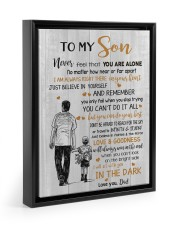JUST BELIEVE IN YOURSELF - BEST GIFT FOR SON 11x14 Black Floating Framed Canvas Prints thumbnail