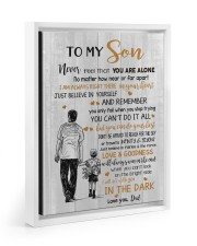 JUST BELIEVE IN YOURSELF - BEST GIFT FOR SON 11x14 White Floating Framed Canvas Prints thumbnail