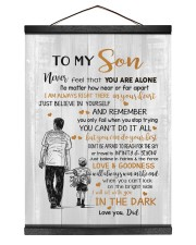 JUST BELIEVE IN YOURSELF - BEST GIFT FOR SON 12x16 Black Hanging Canvas thumbnail