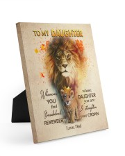 STRAIGHTEN YOUR CROWN - LOVELY GIFT FOR DAUGHTER 8x10 Easel-Back Gallery Wrapped Canvas thumbnail