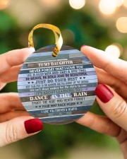 DANCE IN THE RAIN - AMAZING GIFT FOR DAUGHTER Circle ornament - single (porcelain) aos-circle-ornament-single-porcelain-lifestyles-08