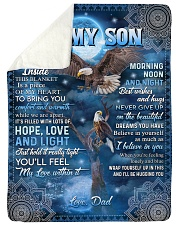NEVER GIVE UP - AMAZING GIFT FOR SON Sherpa Fleece Blanket tile