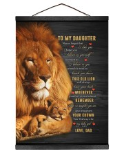 BELIEVE IN YOURSELF - BEST GIFT FOR DAUGHTER 12x16 Black Hanging Canvas thumbnail