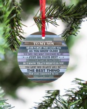 JUST DO YOUR BEST - AMAZING GIFT FOR SON FROM DAD Circle ornament - single (porcelain) aos-circle-ornament-single-porcelain-lifestyles-07