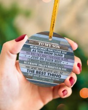 JUST DO YOUR BEST - AMAZING GIFT FOR SON FROM DAD Circle ornament - single (porcelain) aos-circle-ornament-single-porcelain-lifestyles-09