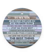 JUST DO YOUR BEST - AMAZING GIFT FOR SON FROM DAD Circle ornament - single (porcelain) front