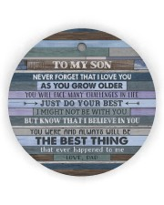 JUST DO YOUR BEST - AMAZING GIFT FOR SON FROM DAD Circle ornament - single (wood) thumbnail