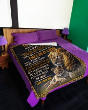 """THIS OLD LION - TO SON FROM DAD Large Fleece Blanket - 60"""" x 80"""" aos-coral-fleece-blanket-60x80-lifestyle-front-01"""