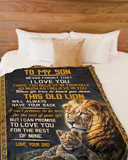 """THIS OLD LION - TO SON FROM DAD Large Fleece Blanket - 60"""" x 80"""" aos-coral-fleece-blanket-60x80-lifestyle-front-02"""