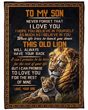 """THIS OLD LION - TO SON FROM DAD Large Fleece Blanket - 60"""" x 80"""" front"""
