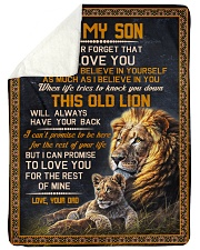 """THIS OLD LION - TO SON FROM DAD Large Sherpa Fleece Blanket - 60"""" x 80"""" thumbnail"""