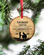 I LOVE YOU - BEST GIFT FOR DAUGHTER Circle ornament - single (porcelain) aos-circle-ornament-single-porcelain-lifestyles-07