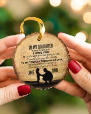 I LOVE YOU - BEST GIFT FOR DAUGHTER Circle ornament - single (porcelain) aos-circle-ornament-single-porcelain-lifestyles-08