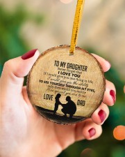 I LOVE YOU - BEST GIFT FOR DAUGHTER Circle ornament - single (porcelain) aos-circle-ornament-single-porcelain-lifestyles-09