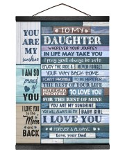 YOU ARE MY SUNSHINE - LOVELY GIFT FOR DAUGHTER 12x16 Black Hanging Canvas thumbnail