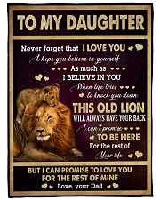 "I LOVE YOU - GREAT GIFT FOR DAUGHTER Large Fleece Blanket - 60"" x 80"" front"