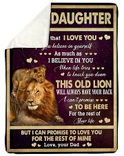 "I LOVE YOU - GREAT GIFT FOR DAUGHTER Large Sherpa Fleece Blanket - 60"" x 80"" thumbnail"