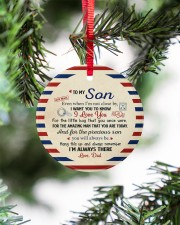I'M ALWAYS THERE - AMAZING GIFT FOR SON FROM DAD Circle ornament - single (porcelain) aos-circle-ornament-single-porcelain-lifestyles-07