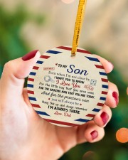 I'M ALWAYS THERE - AMAZING GIFT FOR SON FROM DAD Circle ornament - single (porcelain) aos-circle-ornament-single-porcelain-lifestyles-09