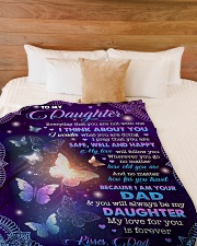 """MY LOVE FOR YOU IS FOREVER - GIFT FOR DAUGHTER Large Fleece Blanket - 60"""" x 80"""" aos-coral-fleece-blanket-60x80-lifestyle-front-02"""