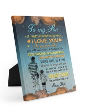 JUST DO YOUR BEST - LOVELY GIFT FOR SON FROM DAD 8x10 Easel-Back Gallery Wrapped Canvas thumbnail