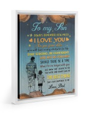 JUST DO YOUR BEST - LOVELY GIFT FOR SON FROM DAD 11x14 White Floating Framed Canvas Prints thumbnail